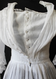Edwardian Tiered Muslin Dress from www.buckinghamvintage.co.uk