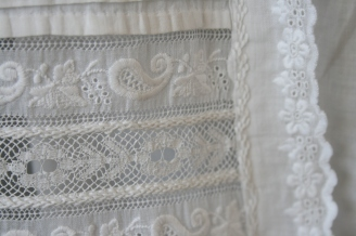 antique christening gown lace www.buckinghamvintage.co.uk