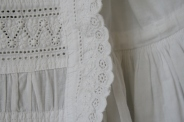 antique christening dress front panel detail www.buckinghamvintage.co.uk