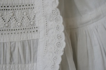 antique christening dress front panel detail www.buckinghamvintage.co.uk