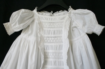 antique christening dress bodice detail www.buckinghamvintage.co.uk